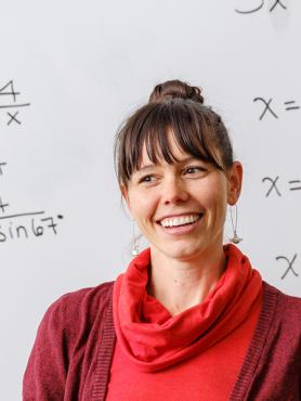 PSU Mathematics Education student teaching a class